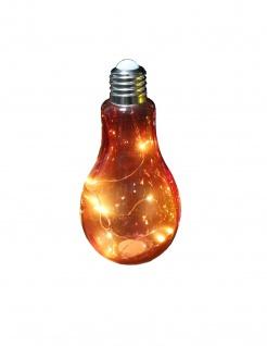 Deko Glühbirne Glas zum Stellen und Hängen klar Glas Batteriebetr. 11x23cm