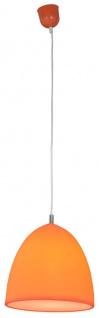 Hängeleuchte mit Silikon Lampenschirm orange Näve Catinus E27