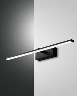 LED Spiegellampe schwarz satiniert Fabas Luce Nala 900lm IP44