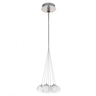 EGLO POLDRAS LED Hängeleuchte, 7-flg. chrom, satiniert/klar