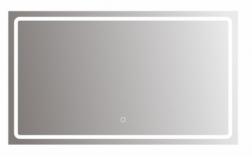 bhp Spiegel mit LED Beleuchtung rechteckig, 5mm, 90x70cm 220-240V, 3000/6500K