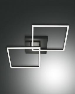 LED Deckenleuchte anthrazit satiniert Fabas Luce Smartluce Bard 4680lm 650x650mm dimmbar