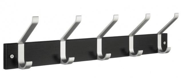 Smedbo Garderobenhaken Holz/Aluminium 5 Fach schwarz BB1074