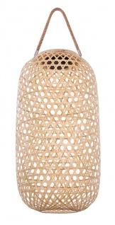 Solarlaterne Bambus natur zum Hängen oder Stellen DH:22, 5x56, 5cm von Globo