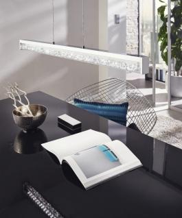 KRISTALL LED Design Pendelleuchte, 1000mm, chrom, Kristall