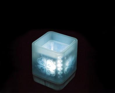 LED Windlicht aus Kunststoff zum auspusten Batteriebetrieben 6x6cm