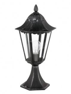 EGLO NAVEDO Außen Sockelleuchte, 1x E27, IP44, schwarz, silber-patina, 93462