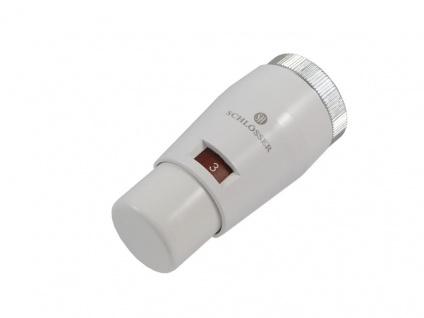 Schlösser Thermostatkopf Mini M30 x 1, 5 Heimeier weiss 6011 00031