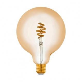 EGLO Connect LED Leuchtmittel E27 G125 5, 5W 400lm 2200-6500K 320° amber App Steuerbar 125x172mm