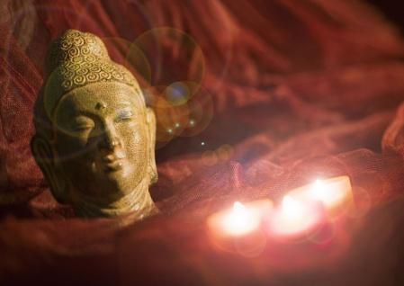 LED Picture Buddha mit Kerze 300x450x18mm