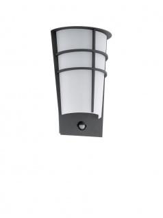 EGLO LED BREGANZO 1 Außen Wandleuchte IP44 anthrazit Bewegung - Dämmerung