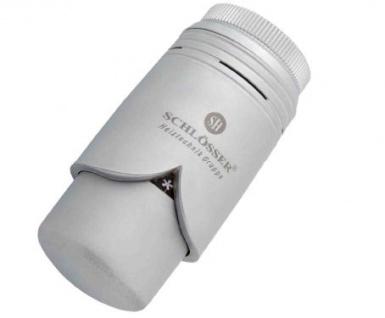 Schlösser Thermostatkopf Brilliant M28 x 1, 5 Herz silbergrau satin 6003 00004