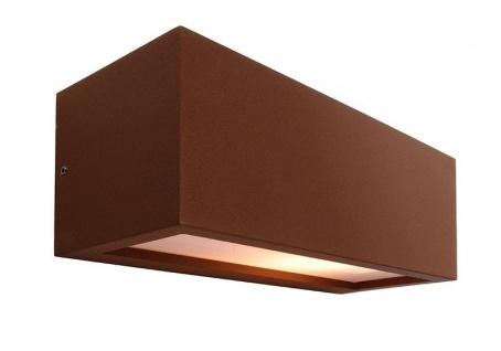 Deko Light Rilongo B Wandleuchte außen braun, weiß IP54 1 flg. E27 Modern, Industrie