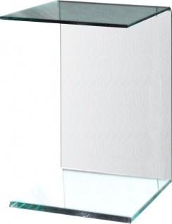bhp Beistelltisch 10mm Klarglas, formgebogen