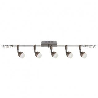 LED Seilsystem stahl blank Näve Tony Kopf 2x5m 5 flg. 320lm