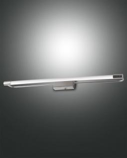 LED Spiegellampe chrom satiniert Fabas Luce Rapallo 1470lm IP44