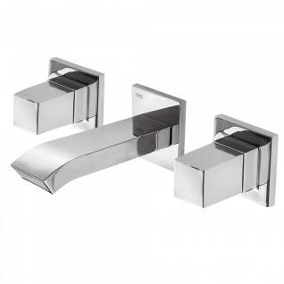 Tres Cuadro-Tres Zweigriff Unterputz Wasch-/ Spültischarmatur mit Schwallauslauf 008.152.01