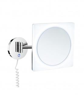 Smedbo Outline Kosmetikspiegel mit Dual LED-Beleuchtung PMMA quadratisch FK483E