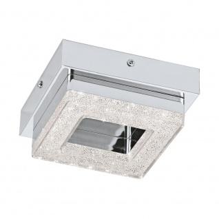 EGLO FRADELO LED Kristall Wand & Deckenleuchte, 1-flg., chrom, klar
