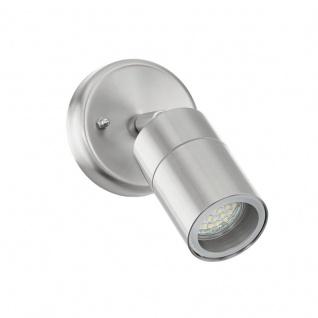 EGLO STOCKHOLM 1 LED Außen Wandleuchte, 1x GU10, IP44, edelstahl, 93268