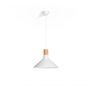 Philips Pendelleuchte Natural Home weiss and Wood