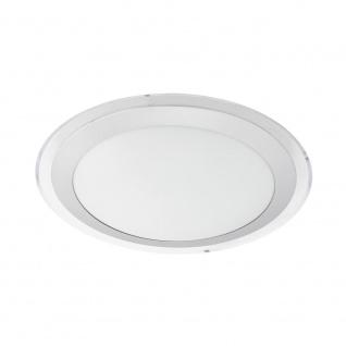 EGLO COMPETA 1 LED Deckenleuchte Ø335, 1-flg., weiss, silber, klar