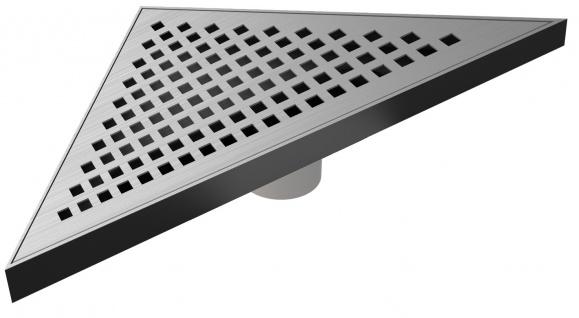 MERT Design Bodenablauf Dreieck Kare 215 x 215 x 304 mm Edelstahl