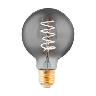 EGLO LED Leuchtmittel E27 G80 4W 100lm 2000K 300° schwarz-transparent dimmbar 80x120mm