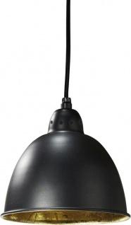 Hochwertige Pendelleuchte aus Metall schwarz gold PR Home Chicago 18cm E27 dimmbar