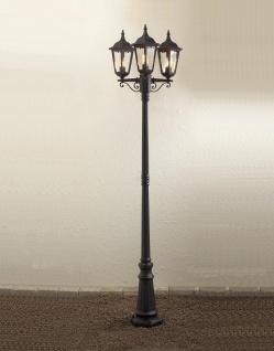 KONSTSMIDE Firenze Schwarze Standleuchte mit 3 Leuchtenköpfen