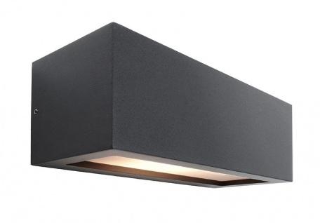 Deko Light Rilongo A Wandleuchte außen anthrazit, weiß IP54 1 flg. E27 Modern