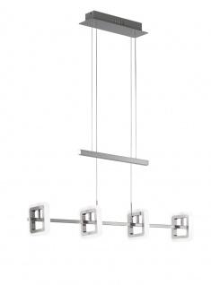 Wofi DAVIS 507 LED Pendelleuchte, nickel-matt, chrom, 85cm