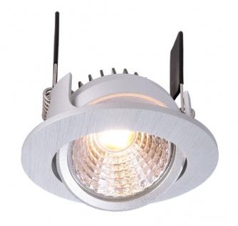 Deko Light COB 68 350mA 2700K rund flach Einbaustrahler LED silber 490lm 2700K >90 Ra 45° Modern