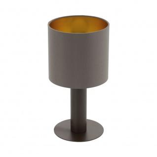 EGLO CONCESSA 1 Tischleuchte Textil cappuccino, gold E27