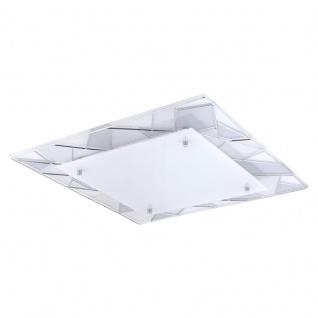 EGLO PANCENTO 1 LED Wand & Deckenleuchte, eckig, 450mm, chrom