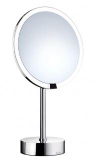Smedbo Outline Stand Kosmetikspiegel berührungslos mit Dual LED-Beleuchtung PMMA rund FK488EP