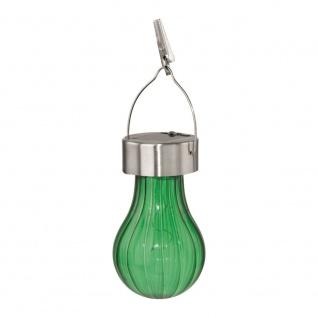 EGLO Solar LED Hängeleuchte edelstahl/grün