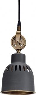 Hochwertige Hängelampe Industrie design aus Metall grau PR Home Cleveland 14cm E27 dimmbar