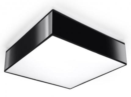 Sollux HORUS moderne Deckenlampe eckig schwarz 2-flg. E27
