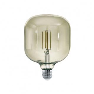 EGLO LED Leuchtmittel E27 T125 4W 380lm 3000K 340° schwarz-transparent dimmbar 125x180mm