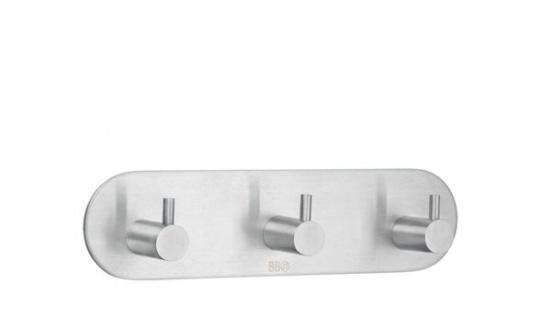 Smedbo Design 3-Fach Hakenleiste Edelstahl gebürstet B1103