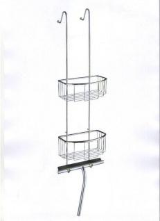 Smedbo Sideline Basic Duschkorb doppelt B: 220 x 130 mm + Duschabzieher im Set DK1045