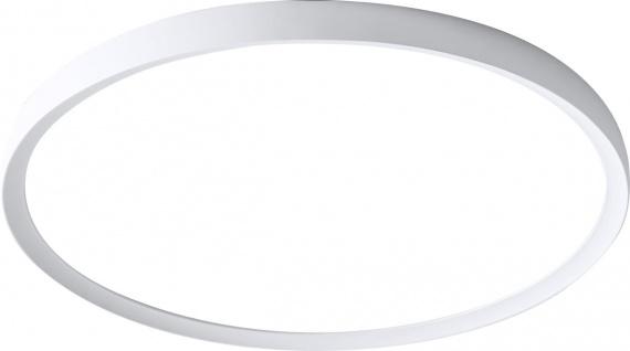 WOFI Gala 004 LED Deckenleuchte weiß 3700lm mit Fernbedienung 48x48x4cm