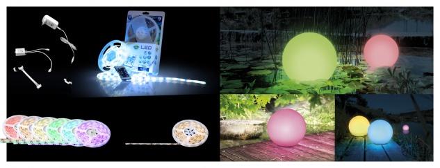 Globo LED BAND LED-Band Kunststoff, 150xRGB LED