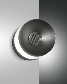 LED Wandleuchte schwarz Fabas Luce Billie 720lm Bluetooth Lautsprecher