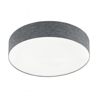 EGLO ROMAO LED Deckenleuchte Leinen grau, weiss 570mm