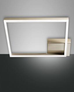 LED Deckenleuchte gold edelmatt satiniert Fabas Luce Smartluce Bard 3510lm