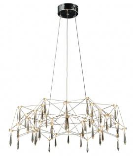 LED Hängeleuchte Kristall Acryl chrom, satiniert Näve Araneus Dm. 73cm