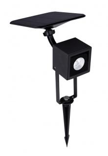 LED Solarlampe Wand u. Erdspieß Strahler 36/180lm mit Bewegungsmelder von Globo