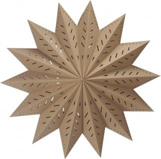 Weihnachtsstern aus Papier braun beige von PR Home 60cm